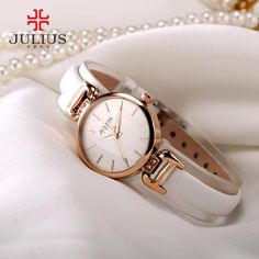 New Lady Women's Watch Japan Quartz Fine Fashion Hours Dress Bracelet Retro Cute Simple Leather Girl Birthday Gift Julius Box Simple Watches, Cute Watches, Cheap Watches, Sport Watches, Vintage Watches, Women's Watches, Ladies Watches, Birthday Gifts For Girls, Girl Birthday