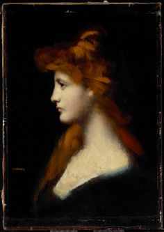 "artgalleryofontario: "" Portrait of a Woman with Red Hair, 19th century Jean Jacques Henner, French, 1829 - 1905 Oil on canvas Overall: 50.8 x 36.8 cm Gift of C. D. Massey from the collection of..."