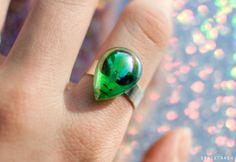 Iridescent Alien Ring / 90s Inspired Space Grunge Ring on Etsy, $13.00