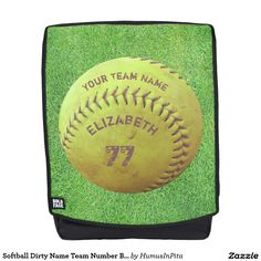 Softball Dirty Name Team Number Ball Backpack