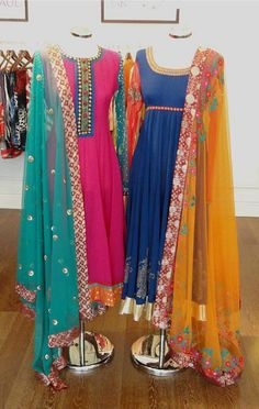Colorful Dresses: Colorful Prom dress,Cocktail Dress And Colorful Evening Gowns Indian Attire, Indian Wear, Pakistani Outfits, Indian Outfits, Indian Look, Indian Style, Desi Wear, Desi Clothes, Asian Clothes