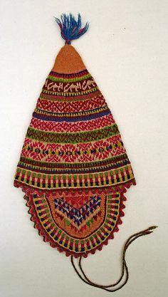 Stocking Cap, Peruvian, early 20th century, wool.