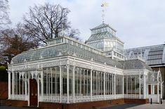 Conservatory, initially built as an extension to Frederick John Horniman's Coombe Cliffe House in Croydon, now found in the gardens of the Horniman Museum, Forest Hill, London.