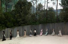 The finale at Chanel Haute Couture, Spring 2013