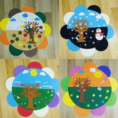 My seasonal chart - my chart Seasons - chart seasonal seasons - DecorationClassroom School Door Decorations, Class Decoration, Seasons Chart, Four Seasons, Preschool Classroom Decor, Preschool Activities, Diy And Crafts, Crafts For Kids, Paper Crafts