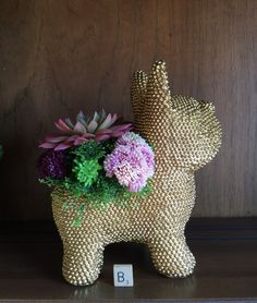 A personal favorite from my Etsy shop https://www.etsy.com/listing/398508637/french-bulldog-gift-planter-with