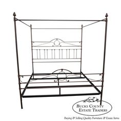 Quality-King-Size-Iron-Canopy-Poster-Bed