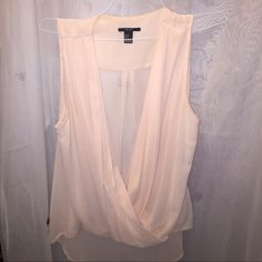 Blush pink drape blouse Flirty and fun blouse perf for date night or summer days Forever 21 Tops Blouses