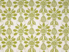 Tree Fruits Acacia on off-white. Caversham Textiles