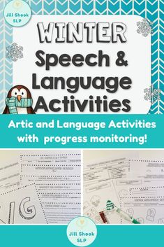 This winter-themed Speech and Language Packet is a MUST HAVE for winter! It includes activities to target articulation; winter vocabulary; following 1- and 2-step directions with prepositions, colors, and functions; categories, wh- questions, and more in an fun, interactive way for your Preschool-2nd/3rd grade speech therapy caseload