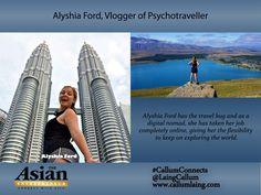 Alyshia Ford, Vlogger of Psychotraveller