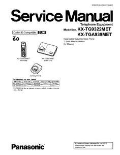 PANASONIC KX-TG9322MET KX-TGA939MET SM Service Manual free download, schematics, eeprom, repair info for electronics