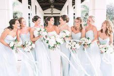 Ribbons and florals and Bridesmaids oh my! Amsale Bridesmaid, Green Bridesmaid Dresses, Wedding Dresses, Blue Wedding, Wedding Colors, Real Weddings, Wedding Inspiration, Ribbons, Florals