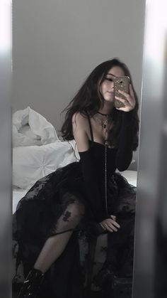 Gothic Outfits, Edgy Outfits, Mode Outfits, Grunge Outfits, Cute Casual Outfits, Pretty Outfits, Girl Outfits, Aesthetic Grunge Outfit, Aesthetic Clothes
