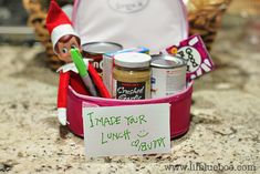 Elf on a Shelf made a silly lunch!