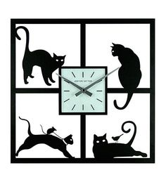 Four Cats Wall Clock by Ashton Sutton