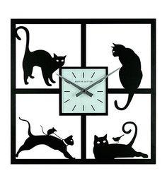 Four Cats Wall Clock by Ashton Sutton