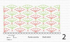 CUELLO PUNTO CONCHA | Lanas y ovillos