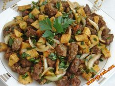Patatesli Soğanlı Arnavut Ciğeri Resimli Tarifi – Yemek Tarifleri – Tavuk tarifleri – Las recetas más prácticas y fáciles Food N, Food And Drink, Appetizer Recipes, Appetizers, Turkish Kitchen, Easy Cake Recipes, Kung Pao Chicken, Veggies, Yummy Food