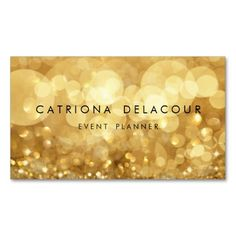 Elegant Gold Glitter Bokeh Business Card. This is a fully customizable business card and available on several paper types for your needs. You can upload your own image or use the image as is. Just click this template to get started!