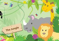 Large Jungle Themed Poster BACKDROP