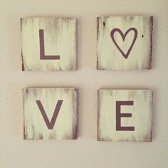 Repurposed Wood Love Sign  Wall Art by 1920Shoppe on Etsy