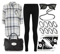 """""""Style #8456"""" by vany-alvarado ❤ liked on Polyvore featuring Donna Karan, Topshop, Converse, Mulberry, Ray-Ban and Monica Vinader"""