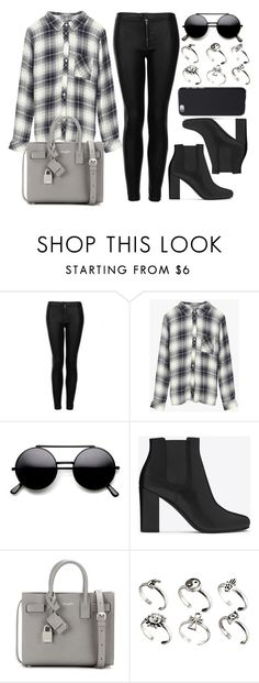 """""""Style #11264"""" by vany-alvarado ❤ liked on Polyvore featuring Topshop, Rails, Yves Saint Laurent and ASOS"""