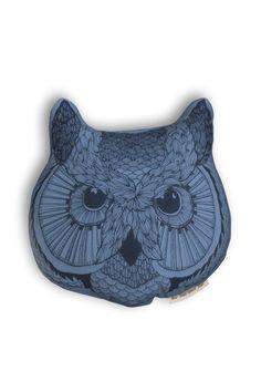 Owl face pillow