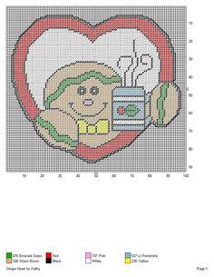Plastic Canvas Coasters, Plastic Canvas Crafts, Plastic Canvas Patterns, Gingerbread Man Crafts, Canvas Picture Frames, Christmas Cross, Xmas, Christmas Craft Projects, Plastic Canvas Christmas