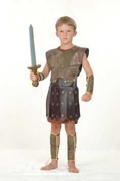 Roman Gladiator Warrior Kids Costume <-- inspiration to try and recreate?