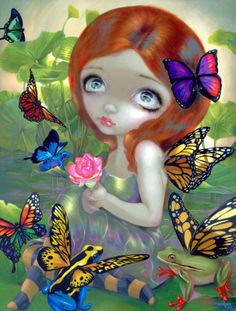Daydreams and Frogs - Jasmine Becket-Griffith