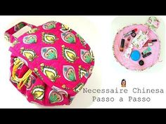 Necessaire Chinesa - D. Bag Patterns To Sew, Sewing Patterns Free, Free Pattern, Accessoires Divers, Diy Purse, Mini Bag, Cosmetic Bag, Diy And Crafts, Sewing Projects