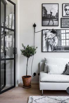 Gray black and white decor