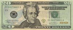 20 dolarów - awers