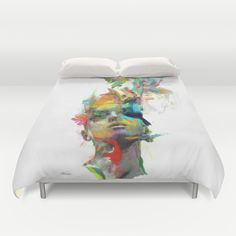 Cover yourself in creativity with our ultra soft microfiber duvet covers. Hand sewn and meticulously crafted, these lightweight duvet covers vividly… Modern Duvet Covers, Best Duvet Covers, Twin Xl Bedding, Comforter, Bedding Sets, Pottery Barn Teen Bedding, Queen Duvet, Duvet Insert, First Home