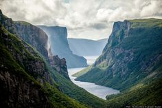 This is the Western Brook Pond in Gros Morne National Park in Newfoundland &…