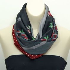 Upcycled/Recycled Necktie Cowl Scarf PDF Pattern