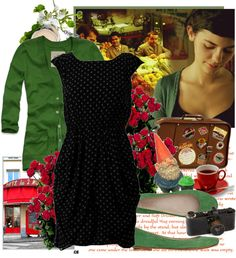 """""""Amelie Poulain"""" by lanamare ❤ liked on Polyvore"""