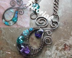 wirework flame pendant tutorial by danagonia on jewelrylessons.com