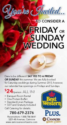 Friday and Sunday Weddings 2013 Banquet, Sunday, Events, Wedding Ideas, Weddings, Food, Domingo, Happenings, Mariage