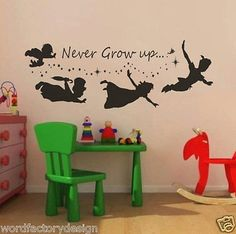 Never Grow up Peter Pan - also known as Peter and Wendy                                                                                                                                                                                 More