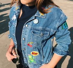 DIY trend: Patched Denim Jacket • Sabor with Style