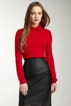 RED Valentino mock neck sweater