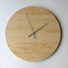 Objetivar reloj de pared de madera contrachapada - grande