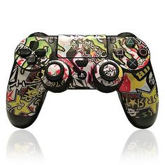 X2 Playstation 4 (PS4) Controller Cover / Skin / Wrap - Energy Drink Bomb Design
