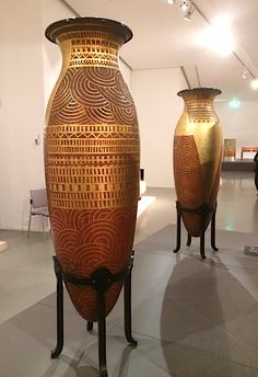 Pair of monumental vases by Jean Dunand