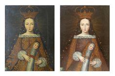 Painting. Cuzco School. Art Conservation & Restoration Sergey Konstantinov. San Francisco.