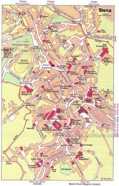Map of Arezzo Tourist Attractions PlanetWare italia Pinterest