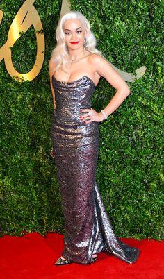 Rita Ora in Vivienne Westwood | British Fashion Awards 2013